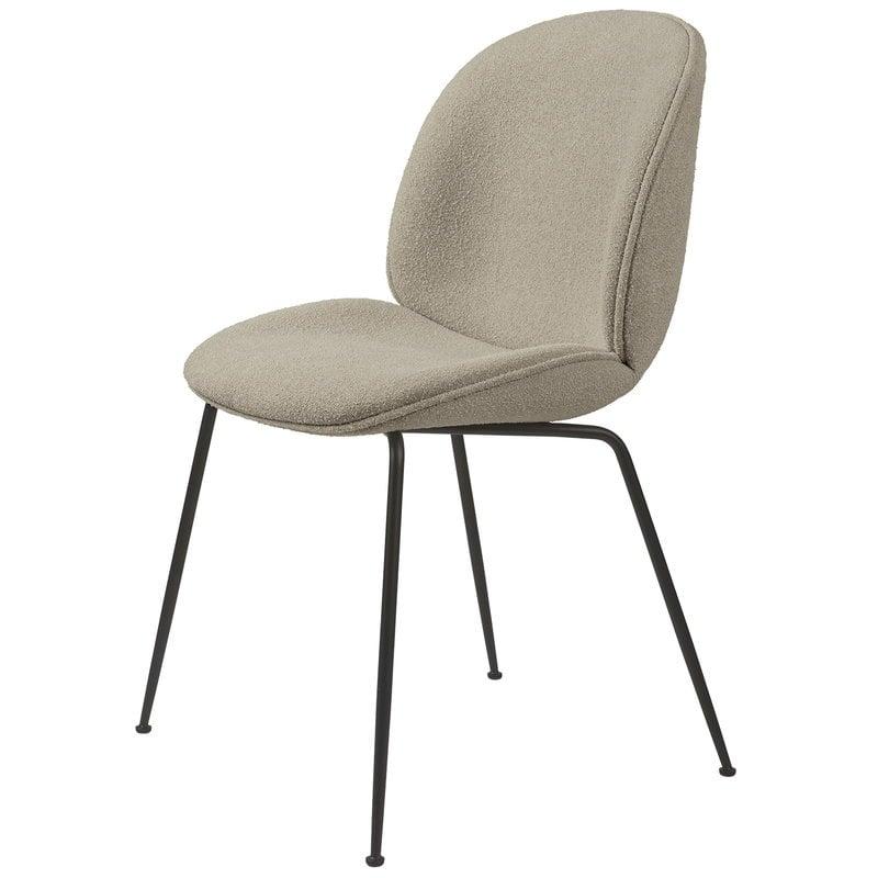 Gubi Beetle tuoli, musta teräs - Light Boucle 08