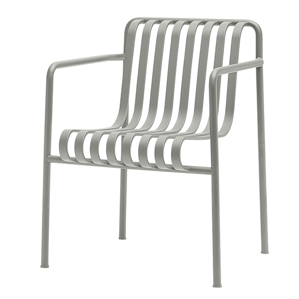 Hay Palissade dining armchair, light grey