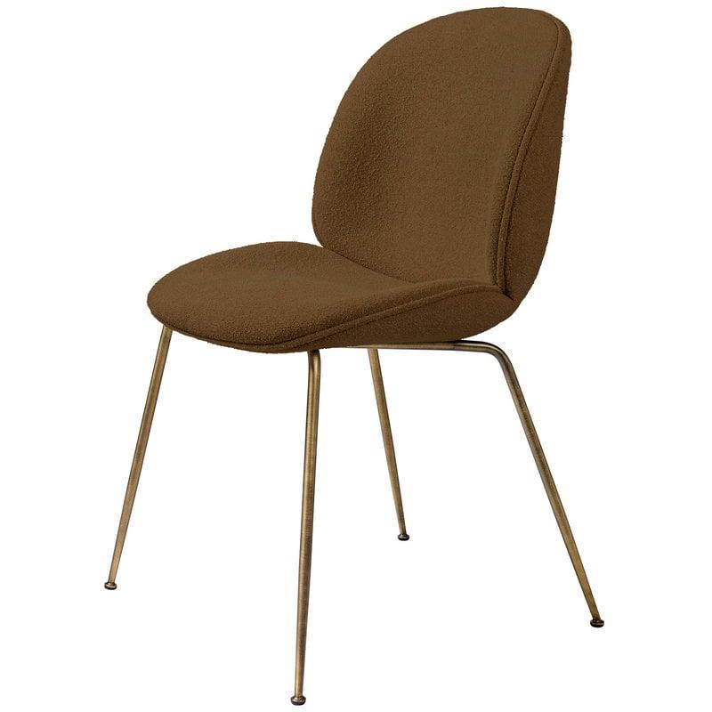 Gubi Beetle chair, antique brass - Light Boucle 06