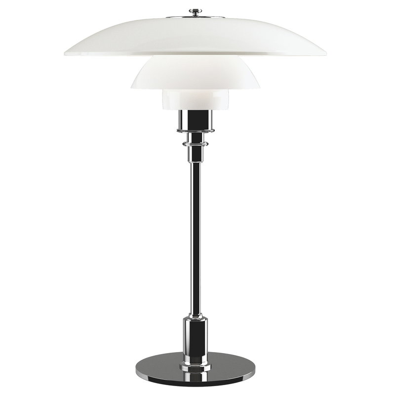 Louis Poulsen PH 3 1/2 - 2 1/2 table lamp, chrome plated