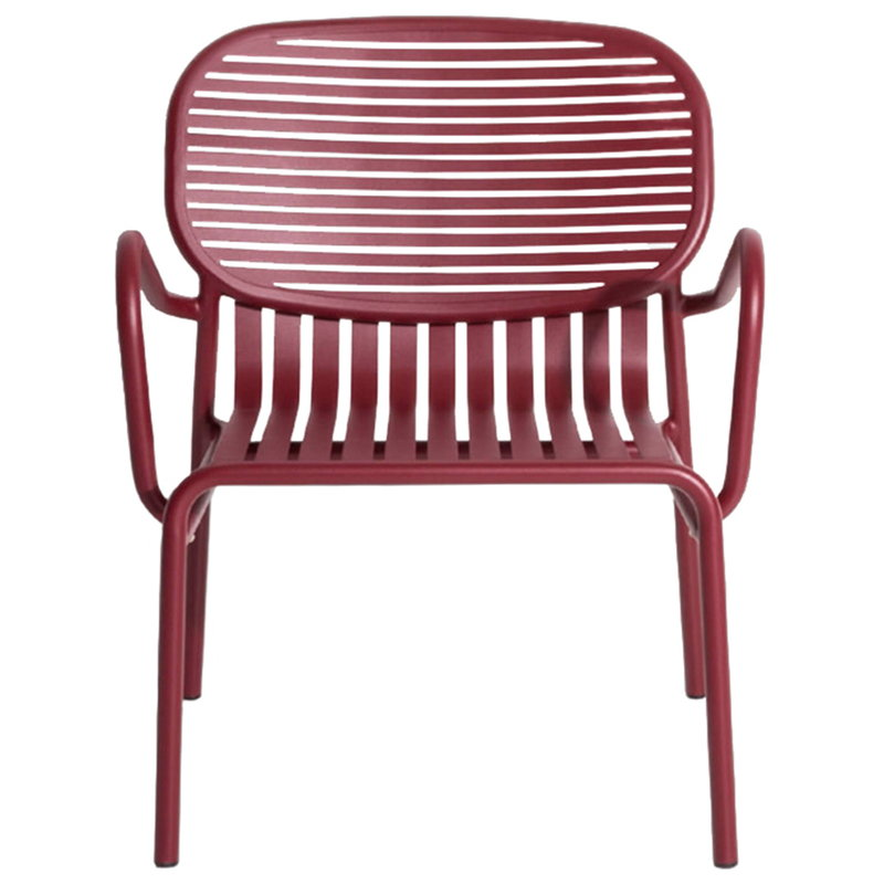 Petite Friture Week-end lounge chair, burgundy