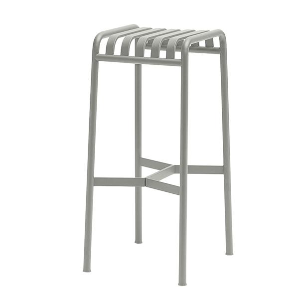 Hay Palissade bar stool, light grey