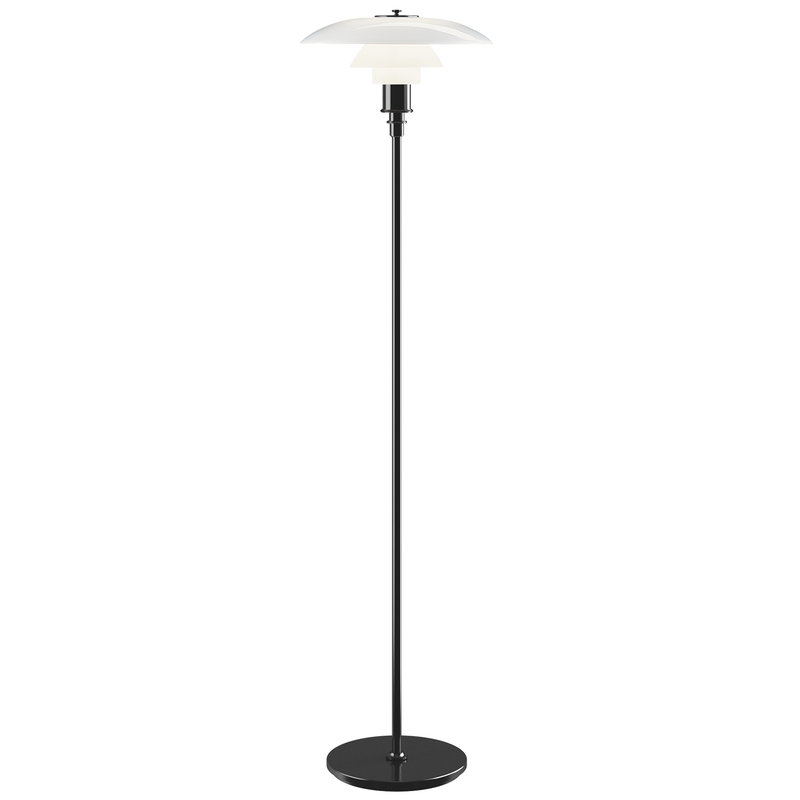Louis Poulsen PH 3 1/2 - 2 1/2 floor lamp, metallised black