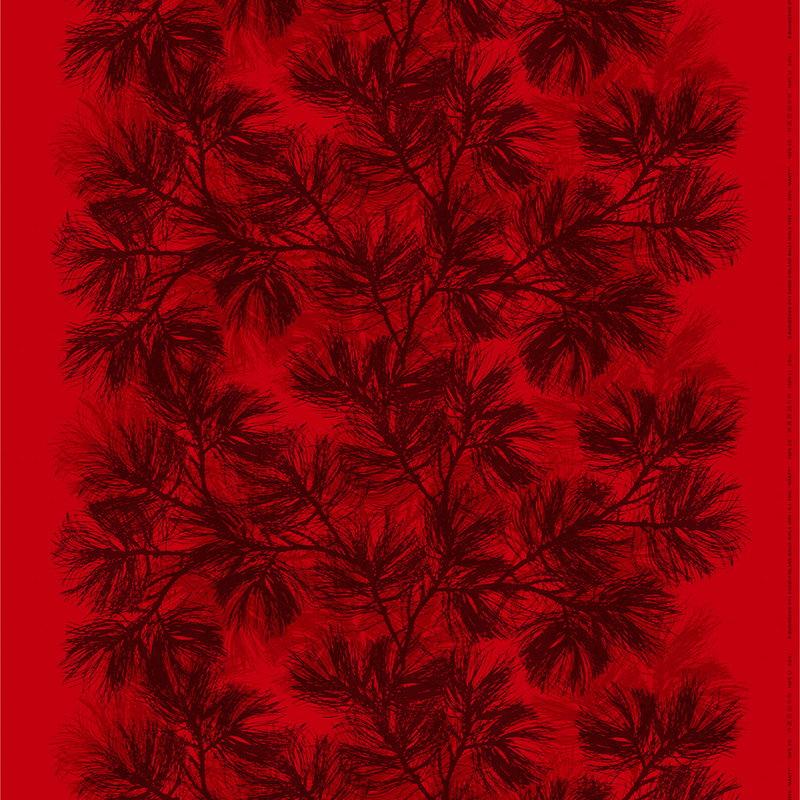 Marimekko Mänty fabric, red