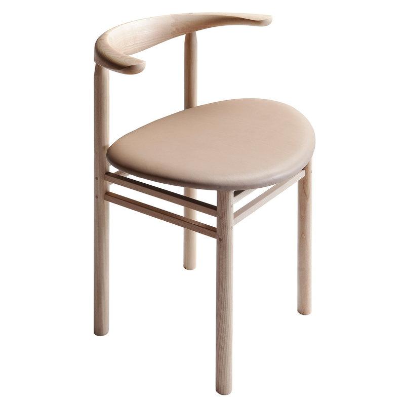 Nikari Linea RMT3 chair, ash - nude leather
