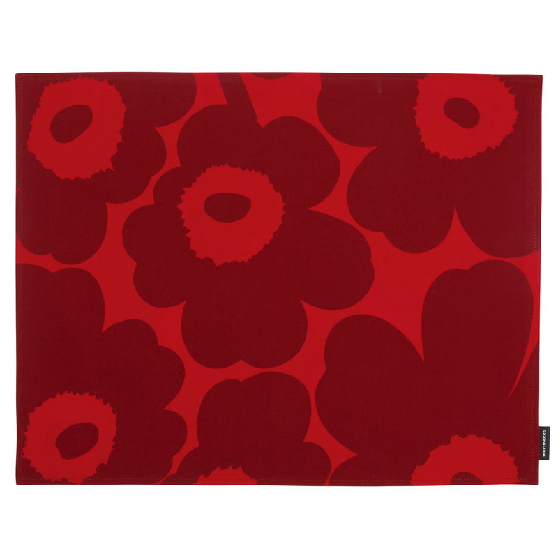 Marimekko Pieni Unikko coated placemat, red - dark red