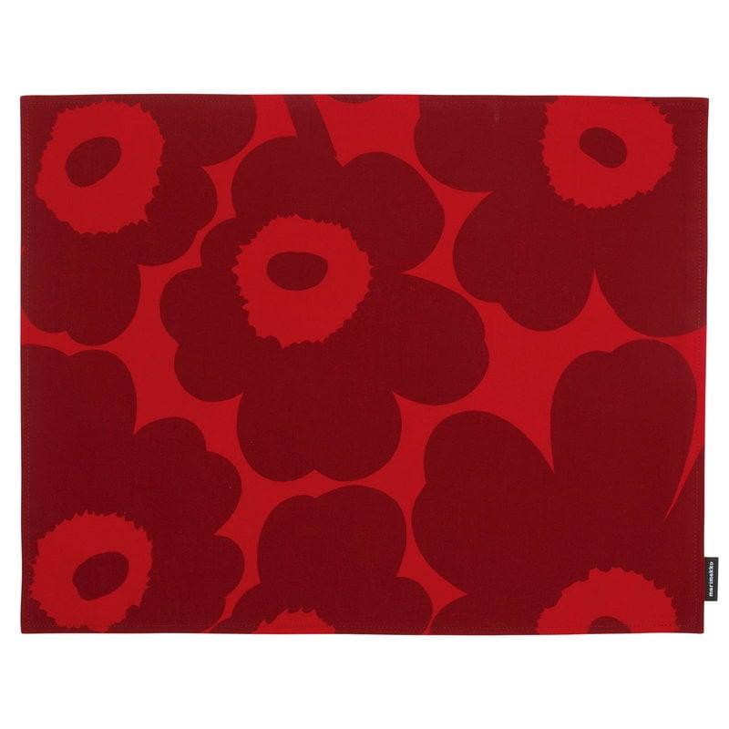 Marimekko Pieni Unikko pinnoitettu kangastabletti, punainen-tummanpunainen
