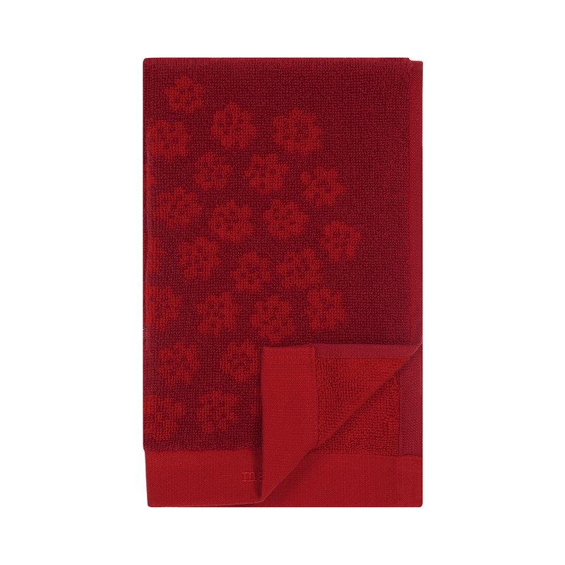 Marimekko Puketti guest towel, red - dark red