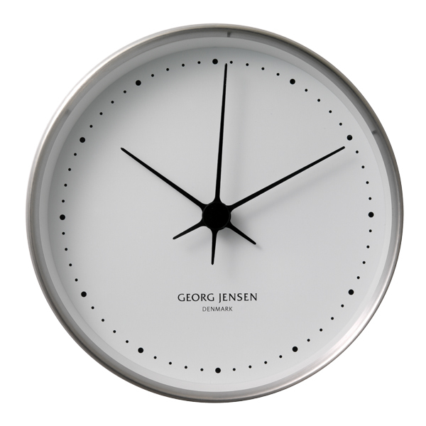 Georg Jensen Henning Koppel wall clock, 22 cm, stainless steel