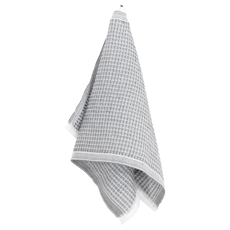 Lapuan Kankurit Laine hand towel, white - grey
