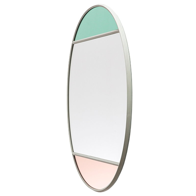 Magis Vitrail mirror, 50 x 60 cm, oval, light grey
