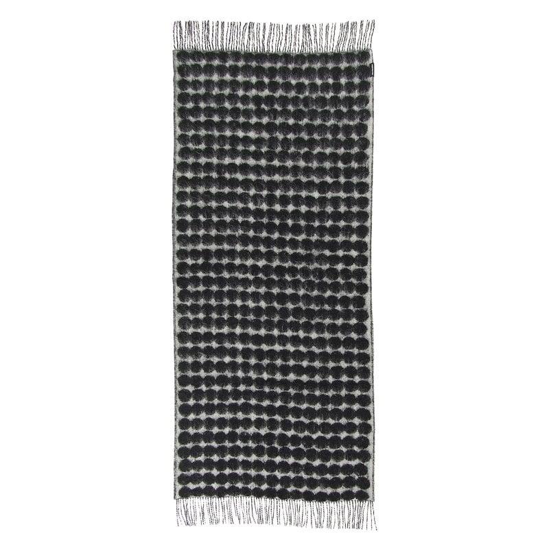 Marimekko Räsymatto blanket, off white - black