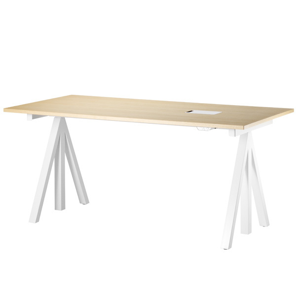 String String Works korkeussäädettävä pöytä 160 cm, saarni