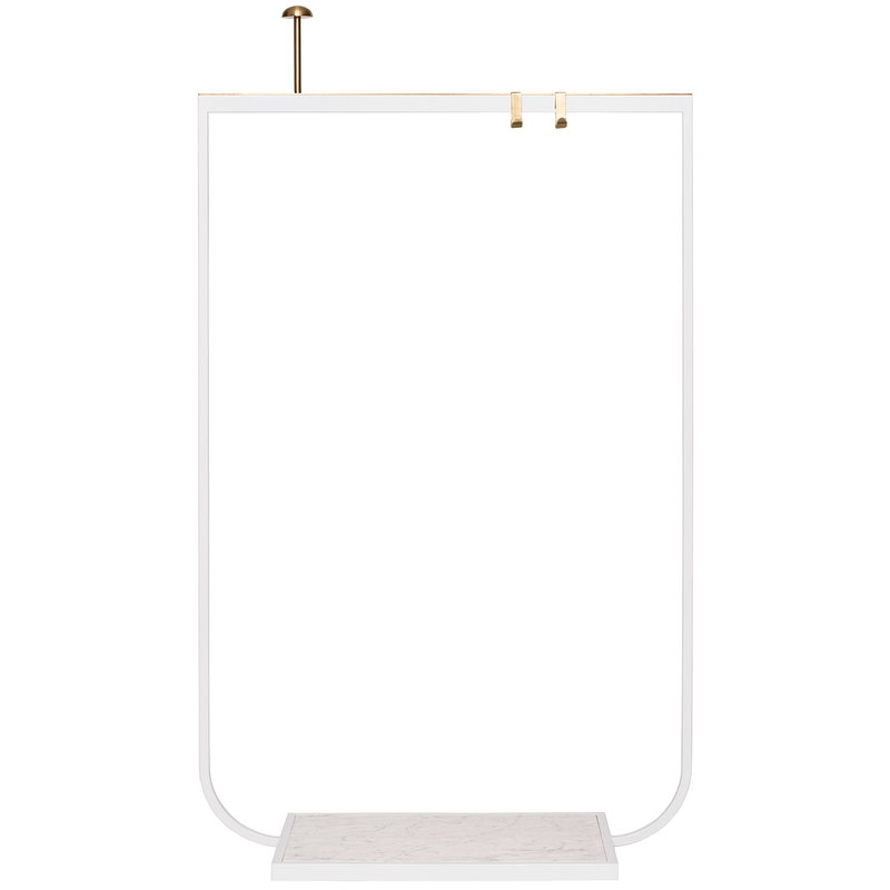 Asplund Tati coat rack, small, white - Carrara