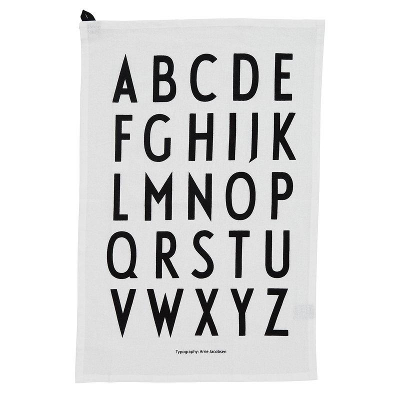 Design Letters Classic keittiöpyyhe, 2 kpl, valkoinen