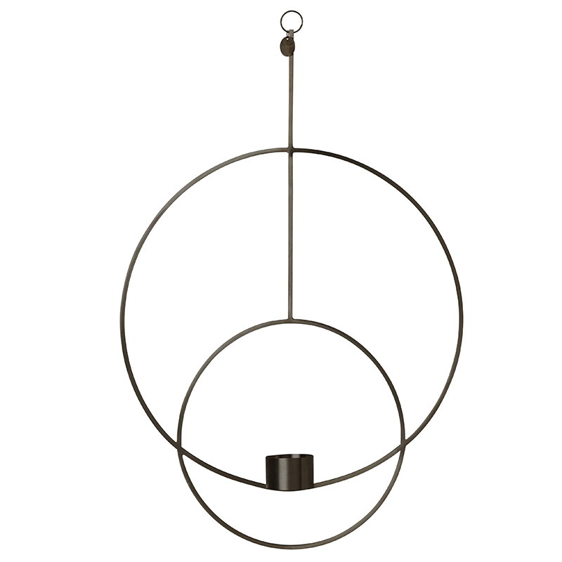 Ferm Living Hanging tealight Deco, round, black