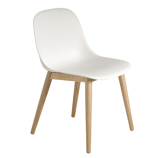 Muuto Fiber side chair, oak - white