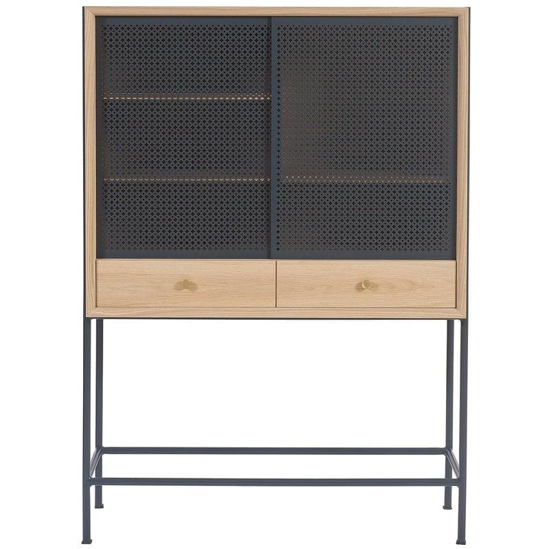 Harto Gabin cabinet, oak - slate grey