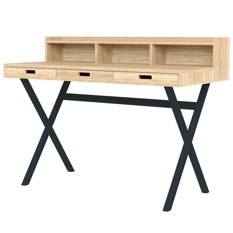 Harto Hyppolite desk, oak - grey