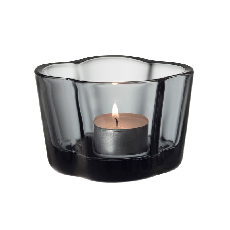 Iittala Aalto tea light candleholder 60 mm, grey
