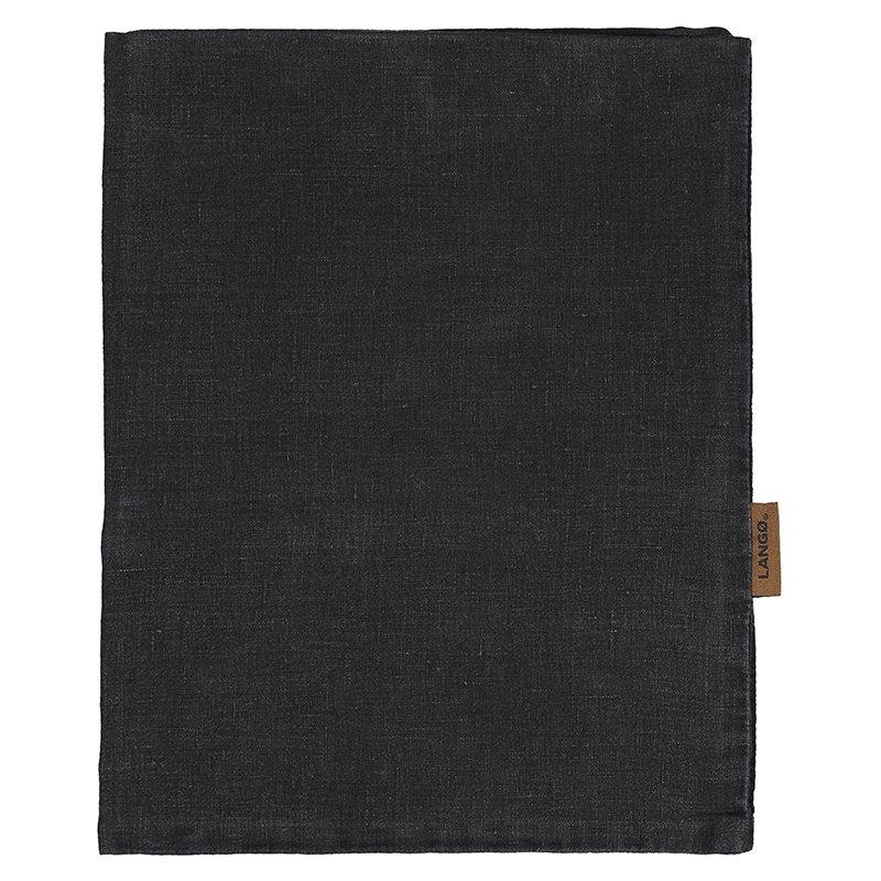 Langø Duvet cover, linen, black
