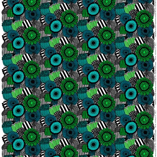 Marimekko Pieni Siirtolapuutarha fabric, green