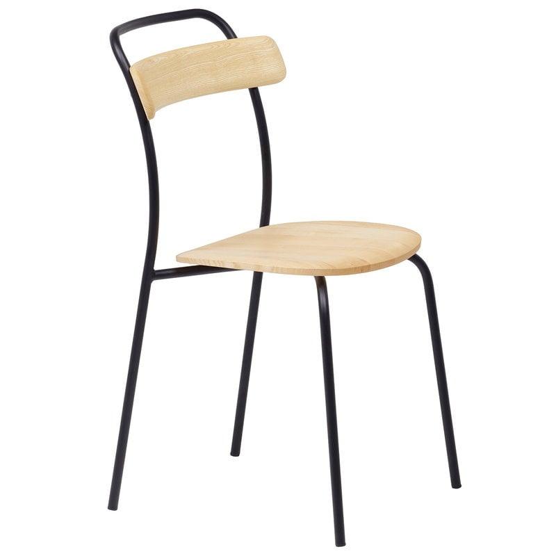 Mattiazzi Forcina chair, black steel - ash