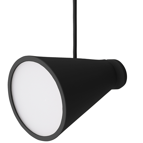 Menu Bollard lamp, black