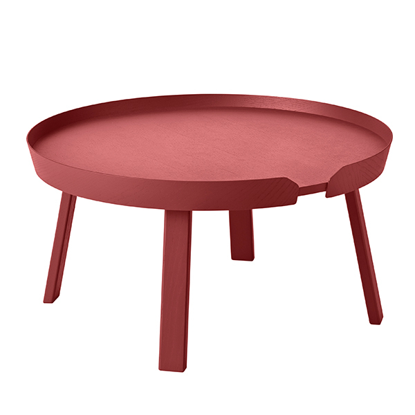 Muuto Around Table Large Dark Red Finnish Design Shop - Dark red coffee table
