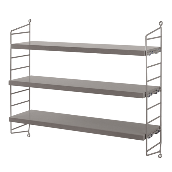 String Furniture String Pocket shelf, grey