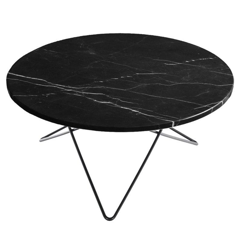 OX Denmarq O table, black - black marble