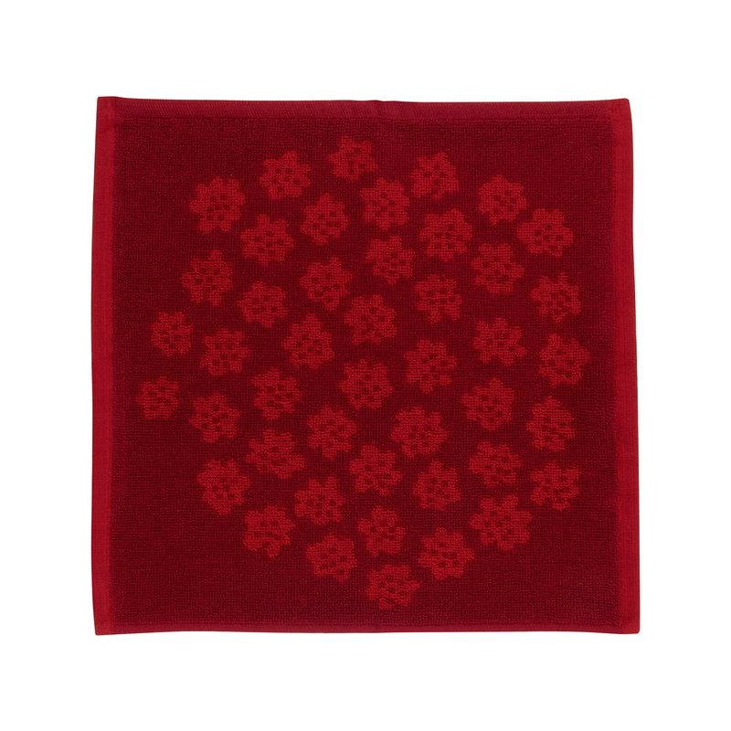 Marimekko Puketti mini towel, red - dark red