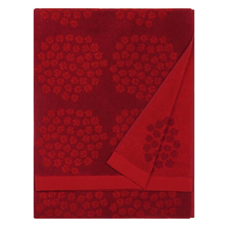 Marimekko Puketti bath towel, red - dark red