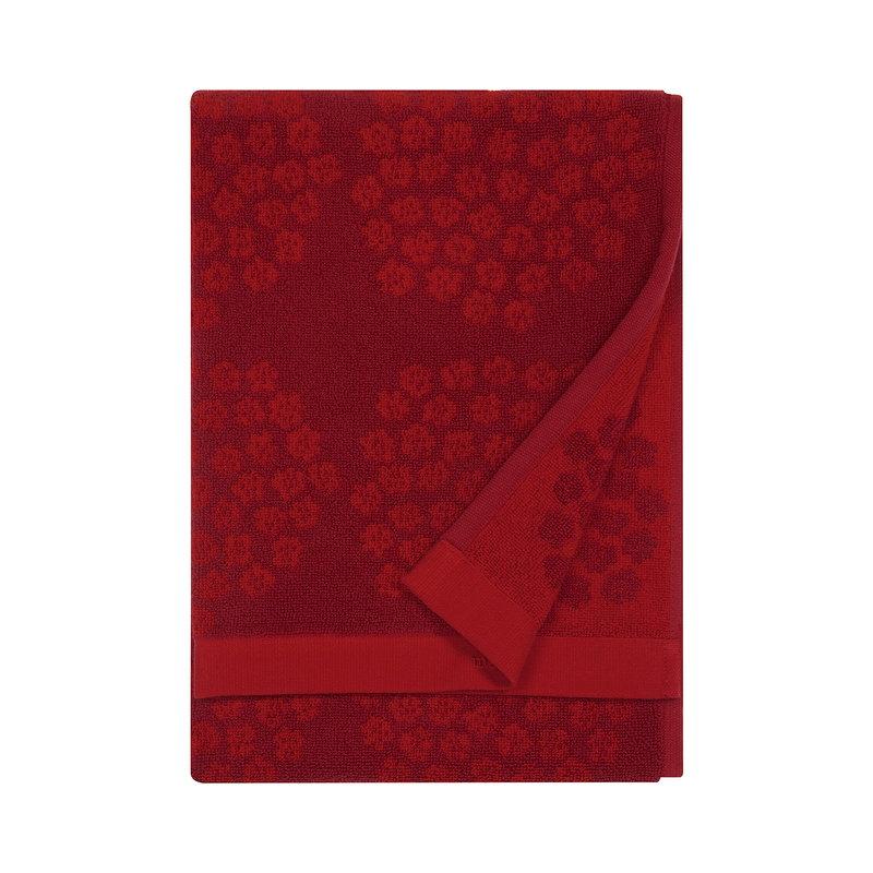 Marimekko Puketti hand towel, red - dark red