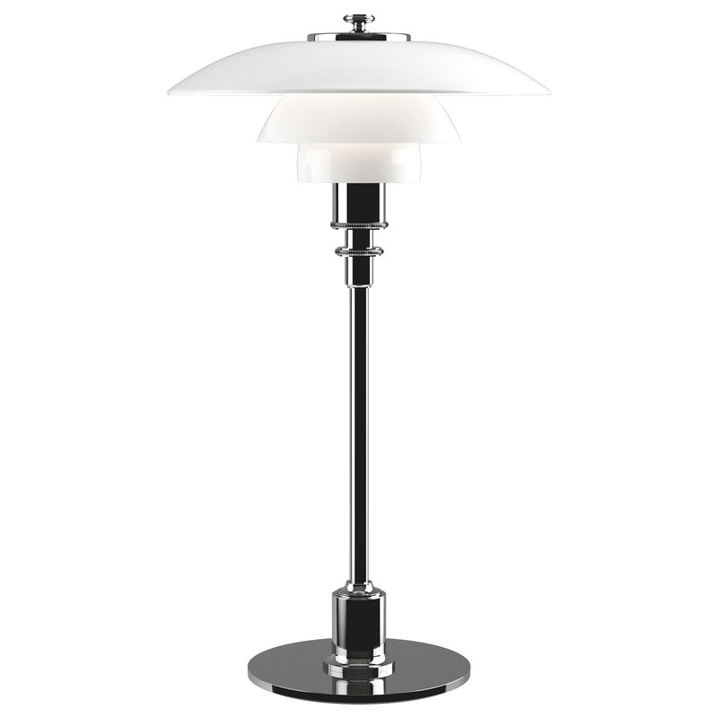 Louis Poulsen PH 2/1 table lamp, chrome plated