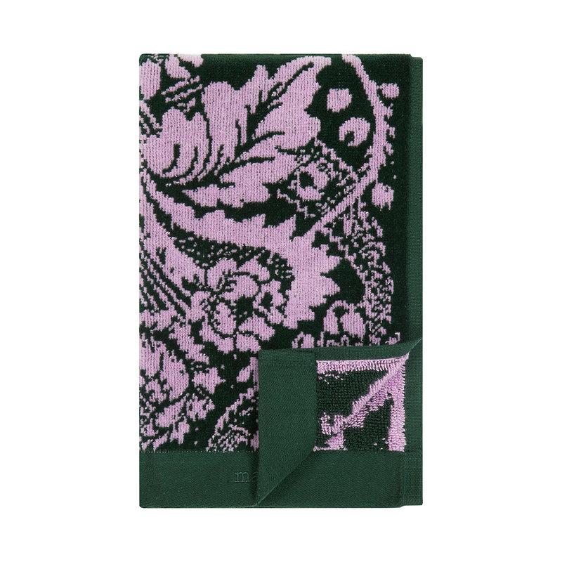 Marimekko Fandango guest towel, dark green - pink
