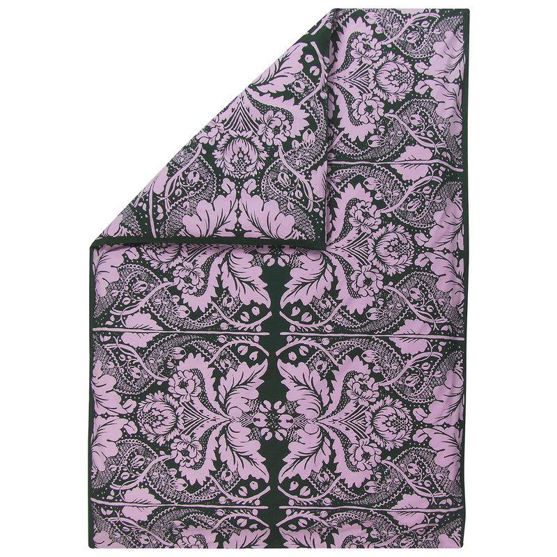 Marimekko Fandango duvet cover 150 x 210 cm, dark green - pink
