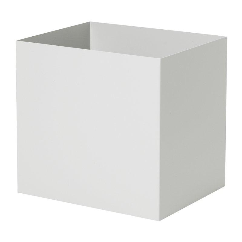 Ferm Living Vaso Plant Box, quadrato, grigio chiaro