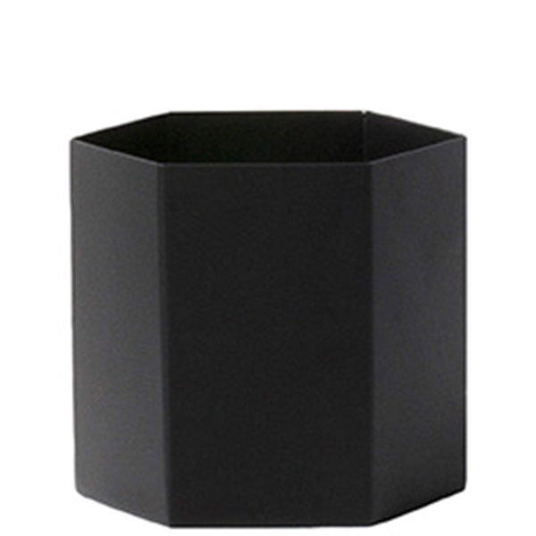 Ferm Living Vaso Hexagon, L, nero