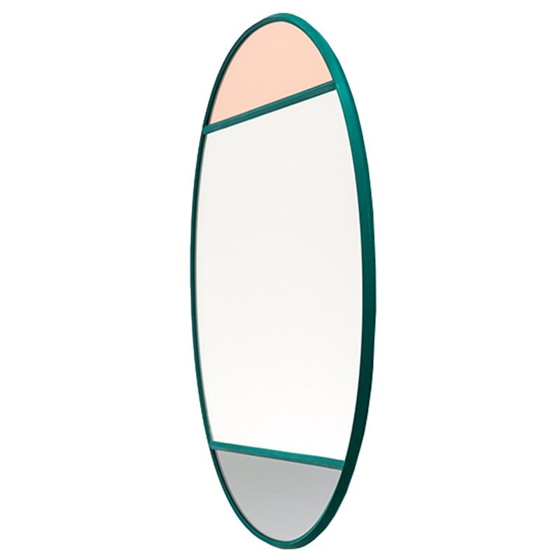 Magis Specchio Vitrail, 50 x 50 cm, rotondo, verde