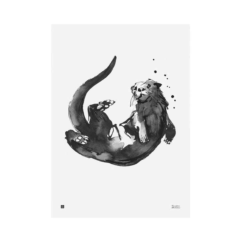 Teemu Järvi Illustrations Otter poster, 30 x 40 cm