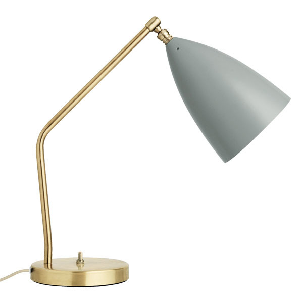 Gubi Gräshoppa table lamp, blue grey