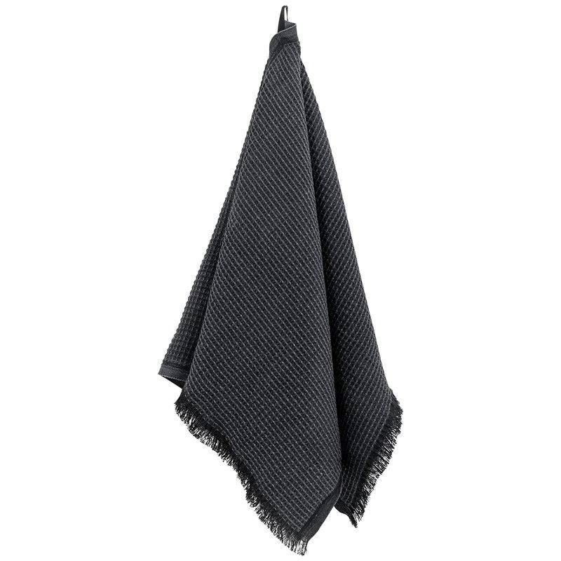 Lapuan Kankurit Laine hand towel, black - graphite