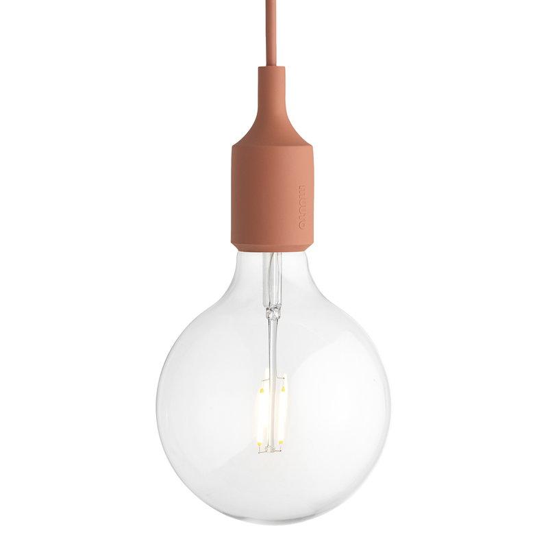 Muuto E27 LED pendant, terracotta