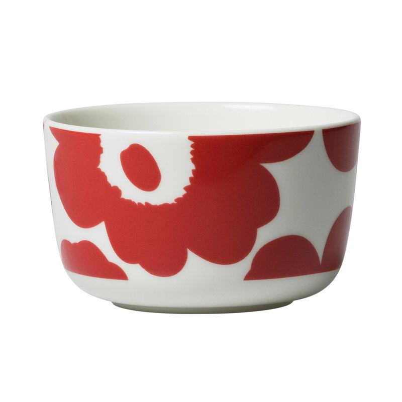 Marimekko Oiva - Unikko bowl 2,5 dl, white - red
