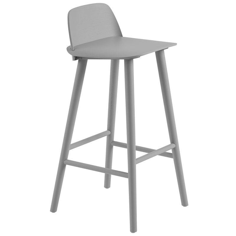 Muuto Nerd bar stool, 75 cm, grey