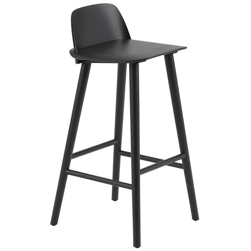 Muuto Nerd bar stool, 75 cm, black
