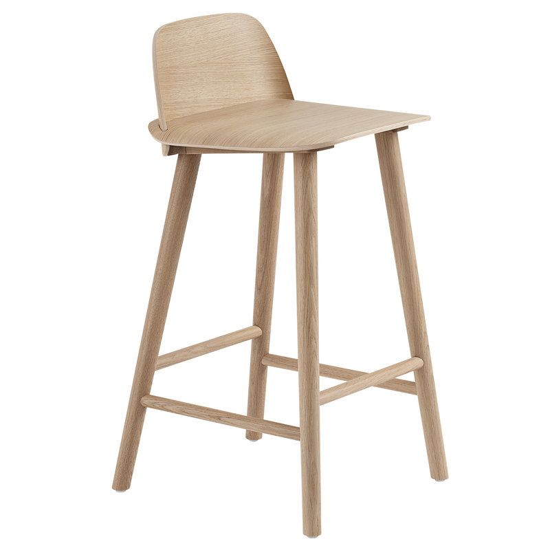 Muuto Nerd counter stool, 65 cm, oak