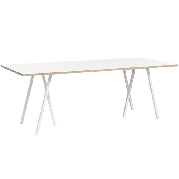 Hay Loop Stand table 180 cm, white