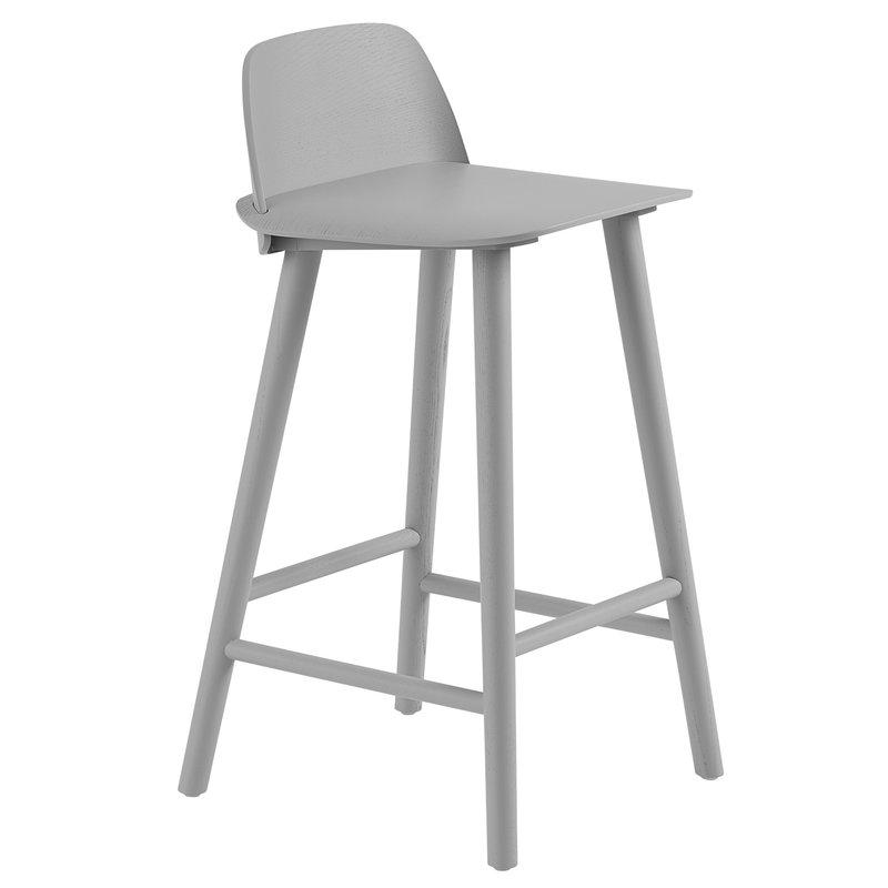 Muuto Nerd counter stool, 65 cm, grey